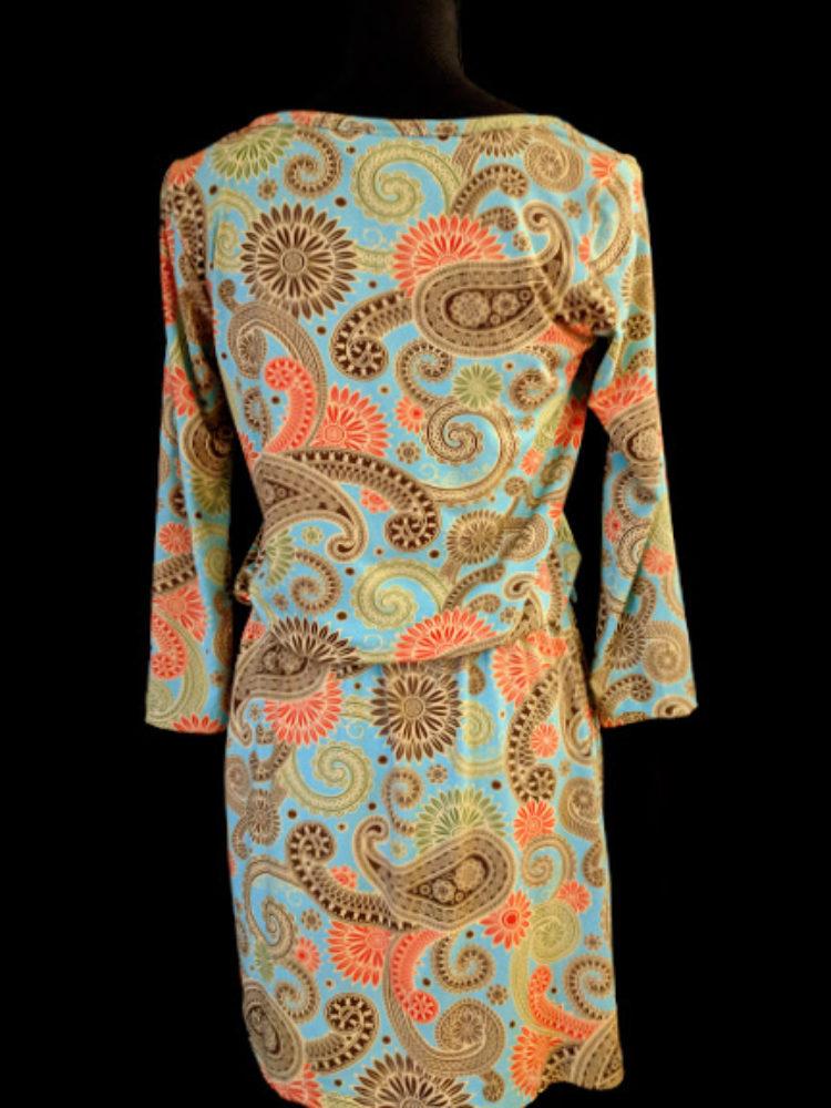 b9166e9cd86 28044 B9 SSD Pretty Pastel Paisley Print Dress Made By Mud Pie Size Medium